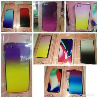 2 in 1 Ombre Case with Tempered Glass