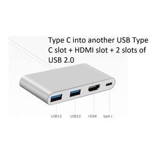USB Type C Multi function Adapter (Type C + HDMI + 2 ports of USB 3.0)