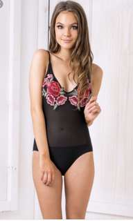 Rose Lace Body Suit