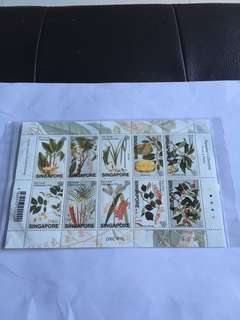 Spore 2002 Farquhar Collection (Fruits & Plants) NVI Stamps