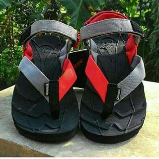 Sandal Gunung Suzuran Extreme x Mr1 Black w Red Dark Grey
