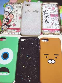 Iphone 7 Phone Cases (5 different designs plus 1 original Spigen clear case)