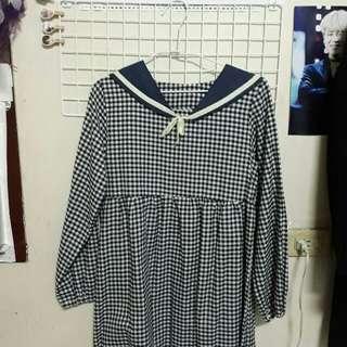 黑格紋洋裝