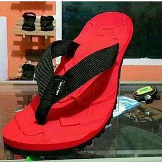 Sandal Gunung Suzuran Flip Flop Mr1 Red w Black