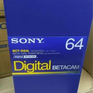 Sony BCT-D64L 64 Minute Digital Betacam Video Cassette in Album Case (Large, 1 BOX OF 10)