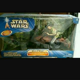 Star wars Princess Leia with speeder bike