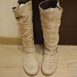 🚚 Tas米淡咖色 靴子 輕薄感