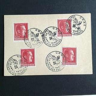 1938 WWII-Hitler postcards.