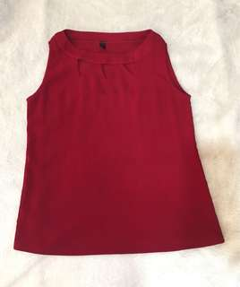 Maroon Sleeveless