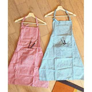 Red and blue Cotton apron