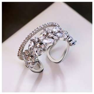 Double Lines Hollow Ring