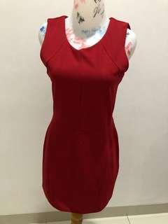 Gaudi bodyfit red dress