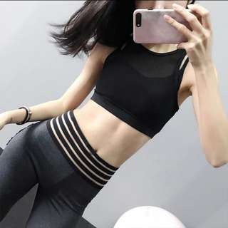 F.run sports bra top net cover