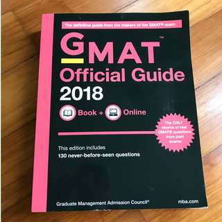 Brand New GMAT Official Guide 2018 (without plastic packaging)