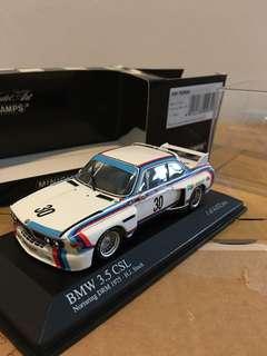 1/43 BMW 3.5 CSL. 1975. H.J. Stuck. Minichamps
