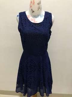 Mineola navy dress