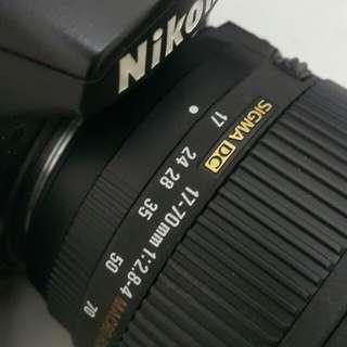 Sigma lens 17-70mm os 2.8f