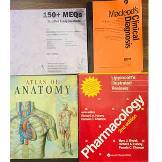New and used medical books for sale. PM for price