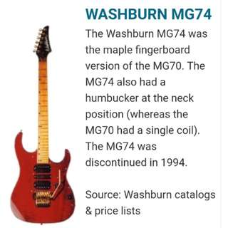 Washburn MG 74 Electric Guitar Maple Fretboard