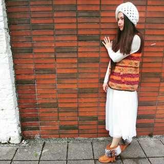 Scolar 三層白色紗裙