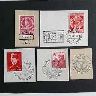 German WWII-Hitler postmarks stamps