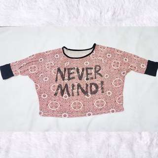 Statement crop top shirt