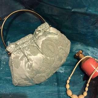 🚚 老式上海風經典珠釦包/珠珠口金包/手提包/側肩包/晚宴包/鍊條包