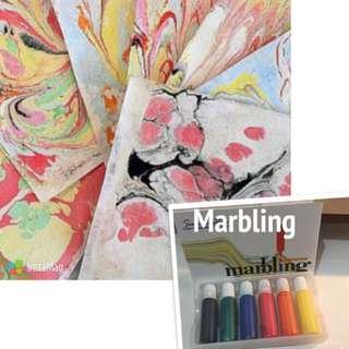 渲染雲石紋marbling Ink Art Design stationary
