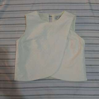 Just G overlapping cropped top