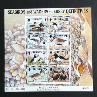 1997 Jersey-Seabirds stamps sheets.