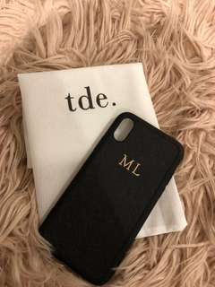 TDE INITIAL IPHONE X PHONE CASE