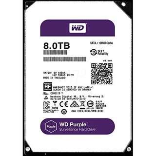 BNIB - Western Digital WD 8TB 3.5inch Surveillance Storage (Purple)