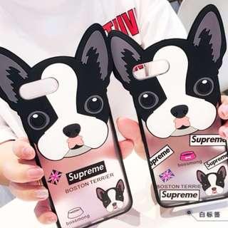 手機殼IPhone6/7/8/plus(沒有X) : 鬥牛犬全包膠軟殼