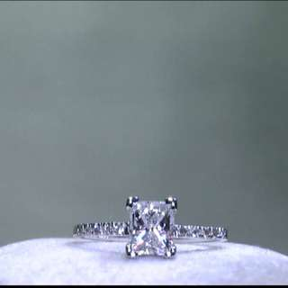1.11ct D/vs princess cut diamond ring AUCTION