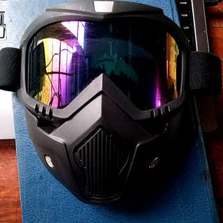 Motorcycle Helmet Face Mask Detachable/ Googles