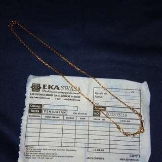 Kalung (perhiasan pengganti emas) Anti karat/menghitam