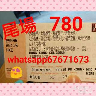 3/25 780 靚位 周杰倫 演唱會