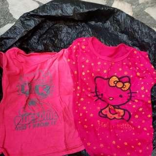 Take 2 kitty shirts medium size