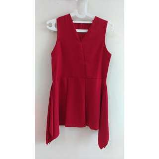 Red Sleeveless Blouse #maupulsa