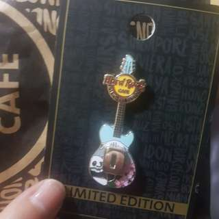 Hard Rock Cafe Japan Sakura Guitar Pin