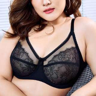 Plus Size Thin Lace Bra