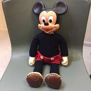 1970年代 Disney Made in Hong Kong 正版古董米奇 50cm高 $680