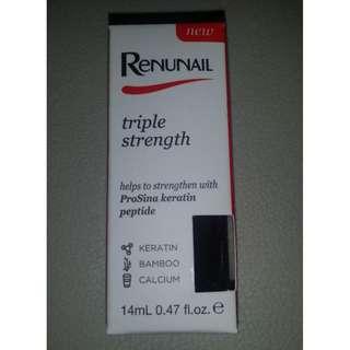 BNIB Dr Lewinn's Renunail Black Plum triple strength nail polish