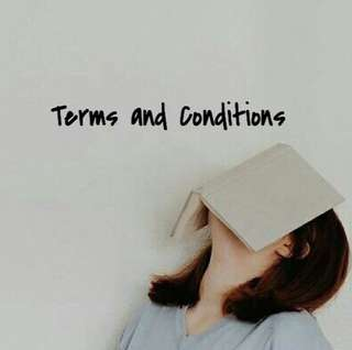 Terms and Conditions !! [T&C🌻]