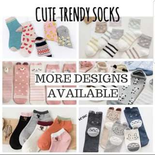 Cute Trendy Printed Socks