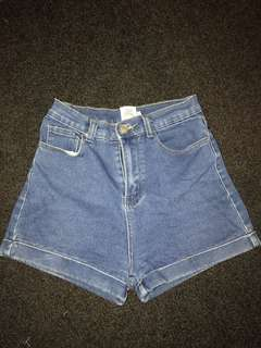 Dissh Boutique Dark High Waisted Denim Shorts