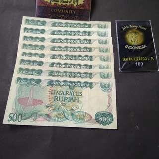 Uang kuno / Uang lama 500 bunga bangkai