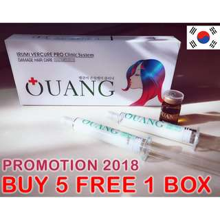 SALE Korea No. 1 Hair Treatment - OUANG IRUMI VERCUSE PRO Clinic System - Damaged Hair Care Package (2nd Generation) AUTHENTIC