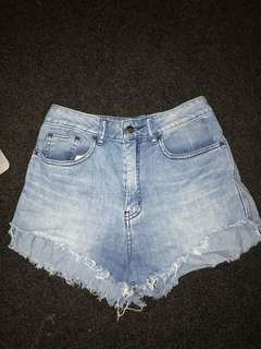 Lee Denim High Waisted Shorts