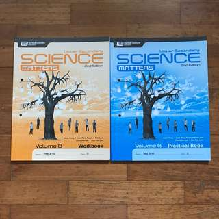LOWER SECONDARY SCIENCE MATTERS 2ND EDITION PRACTICAL BOOK AND WORKBOOK